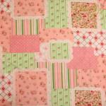 Ткань розовый пэчворк